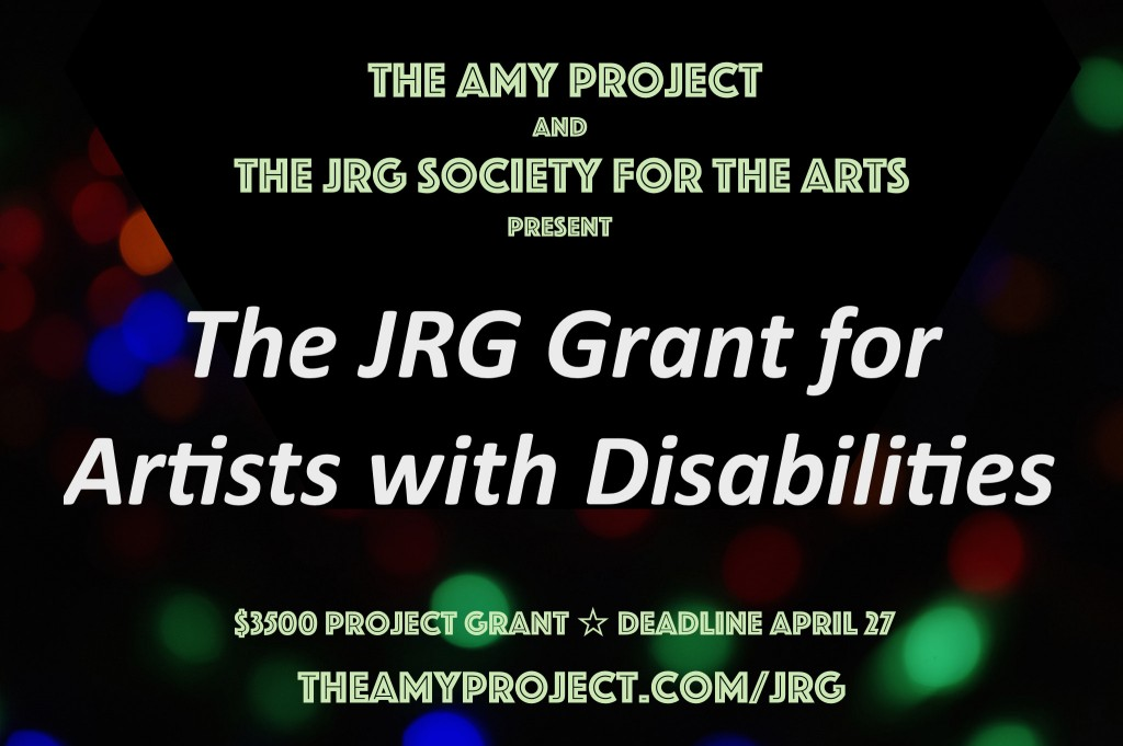 JRG Grant for Artists with Disabilitles