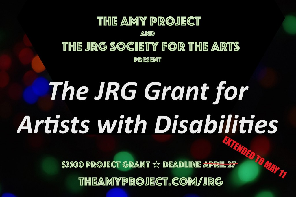 JRG Grant for Artists with Disabilitles Update
